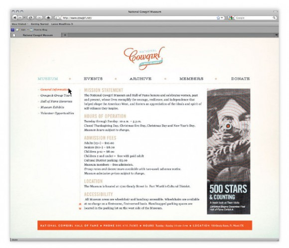 National Cowgirl Hall of Fame brand Identity 09