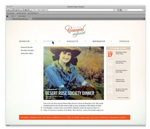 National Cowgirl Hall of Fame brand Identity 10