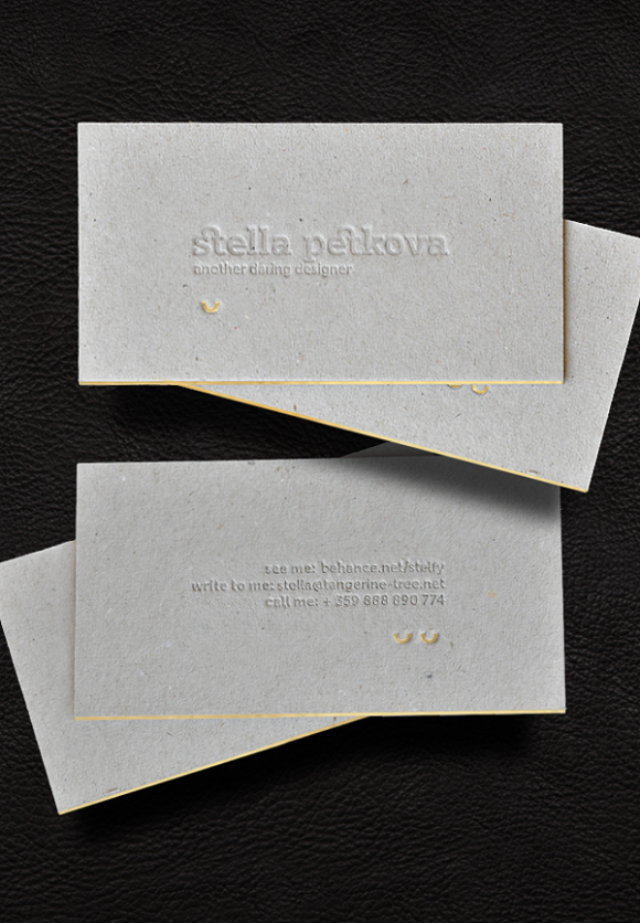 Stella Petkova letterpress business card deign 09