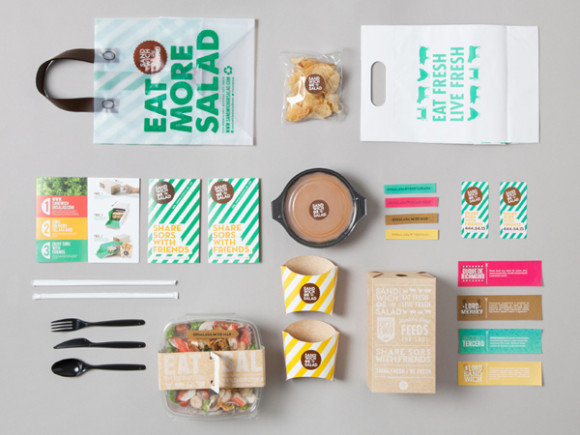 Sandwich or Salad brand identity 01