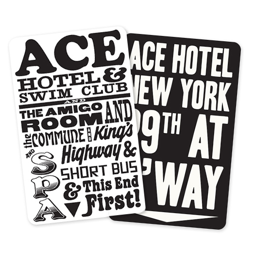 Ace Hotel keycards