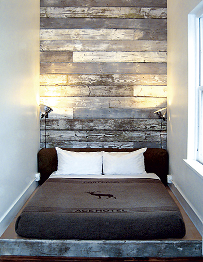 Ace Hotel reclaimed-wood
