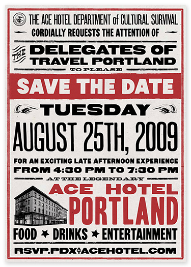 Ace Hotel save-the-date