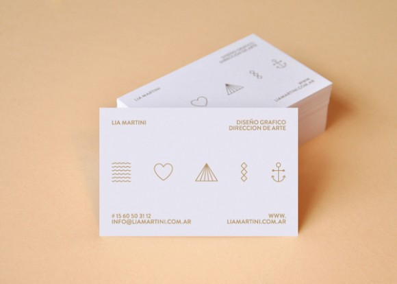Lia Martini business card deign 02