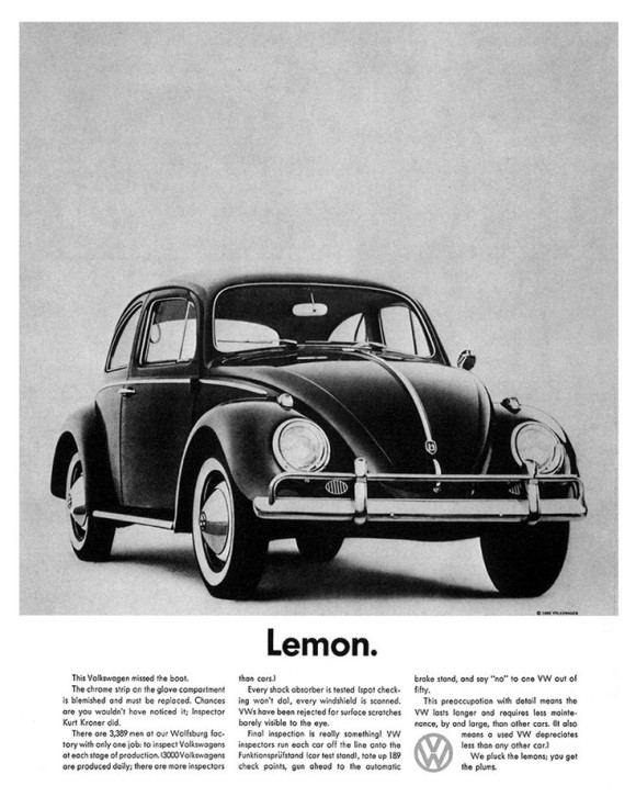 lemon-VW-ad
