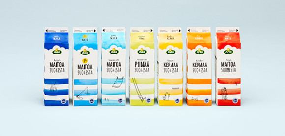Milk from Finland - Arla Packaging Design 39
