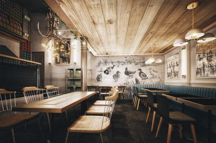 9 simple, cozy, beautiful restaurant interiors branding identitySimple Restaurant Interior Design #9